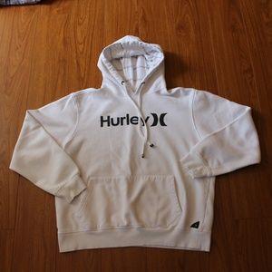 Hurley White Hoodie Medium